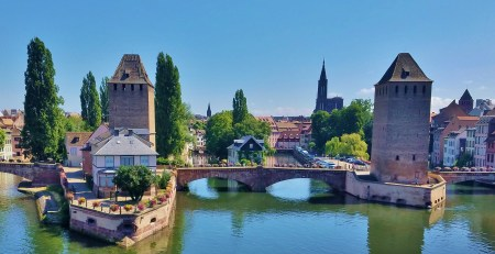 Defensive Towers of Petite France from the Covered Bridge, Strasbourg