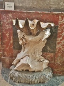 Shell Sculpture by Jean-Baptiste Pigalle in Eglise Saint-Sulpice