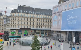 The View from Our Window at Hilton Paris Opera