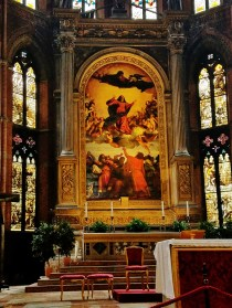 Altar and Titian's Assumption of the Virgin
