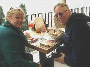 Therese and I Eating Lunch at Re Teodorico, Verona