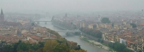 View of Verona and Its River From Castel San Pietro
