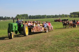 Enjoy wagon rides from the parking lot to the ticket line!