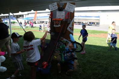 Awesome sports skills in the kids tent #LoveBOTF