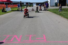 Peddle Tractor Racing at the 2016 Breakfast