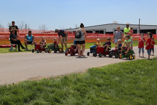 Peddle Tractor Racing is a great way to have fun at the 2016 Breakfast!