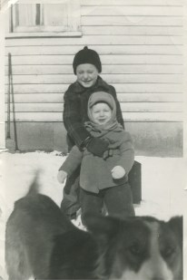 Peggy's brothers, Jim & Larry Junion (5th generation Junion Homestead Farm)