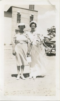 Magdalene Junion & her mother Josephine Deprey - Magdalene did much of the fieldwork on 4th generation Junion Homestead Farm as Lawrence worked off the farm