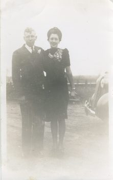 Lawrence & Magdalene Junion, Peggy's parents (4th generation Junion Homestead Farm)