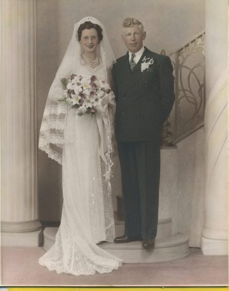 Lawrence & Magdalene Junion Wedding Photo (4th generation Junion Homestead Farm) June 19, 1940