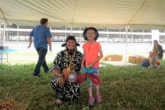 Our Cow Lady always has fun with the kids!