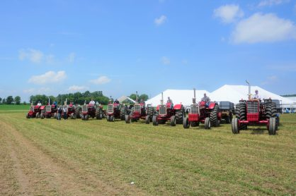 Kewaunee Cty Pride! Thank you to our tractor drivers for bearing the heat to give our breakfast guests farm tours.