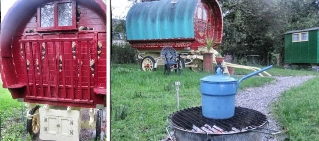 gypsy caravan, bramble bield glamping, holidays in scotland