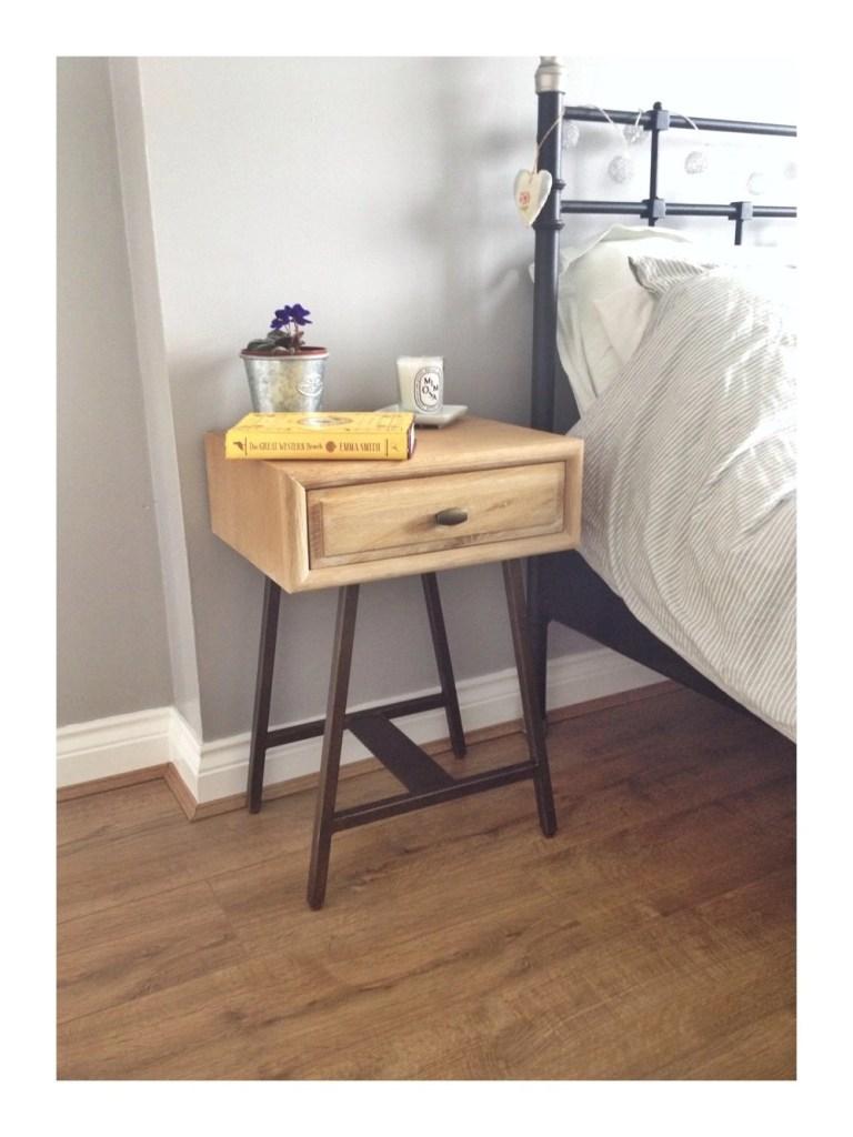 Bedroom makeover update – the bedside table