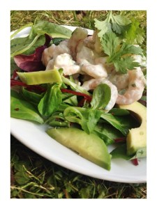 prawn and avocado salad recipe, prawn marinade recipe, healthy salad dressing recipe, things to make with frozen prawns, quick weeknight salad, superfood salad, quick meal idea, Daisies & Pie, daisies and pie