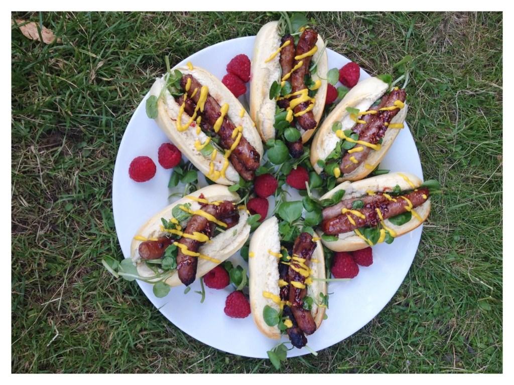 Sticky Sausages with Stella Artois Raspberry Cidre