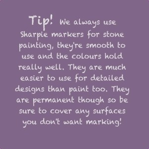tips for pebble painting, how to paint pebbles, daisies and pie