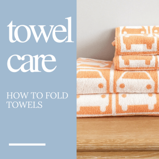 How to fold a towel so it's super neat, homemaking tips and ideas from Daisies and Pie