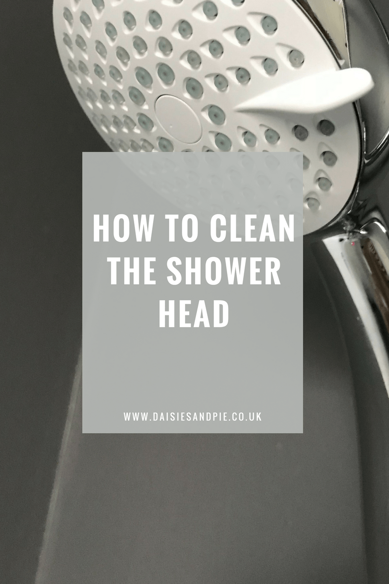 how to clean the shower head bathroom cleaning hacks homemaking tips