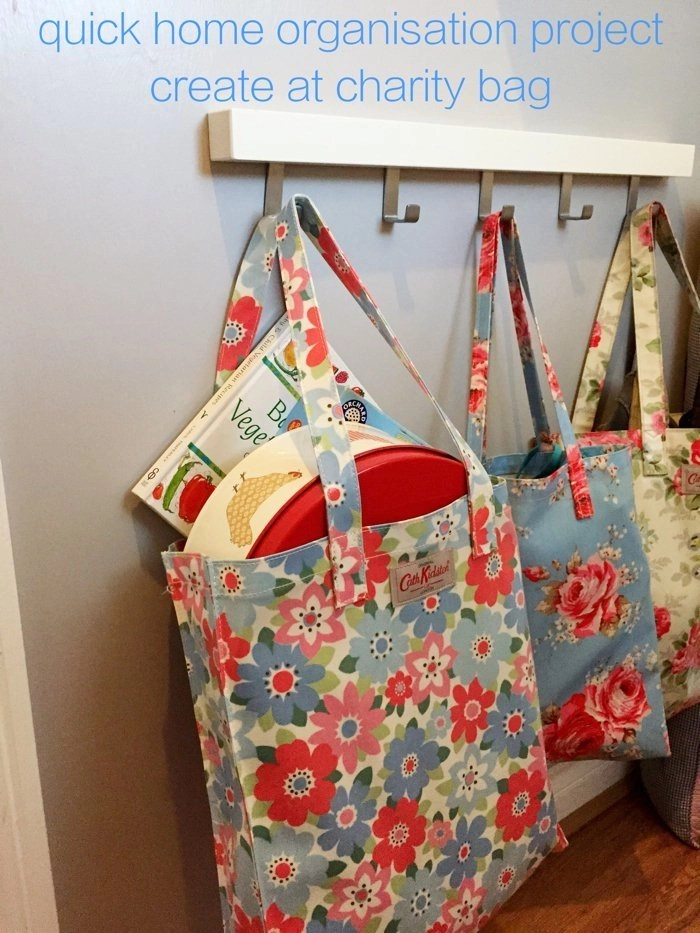 Home organisation – charity bag