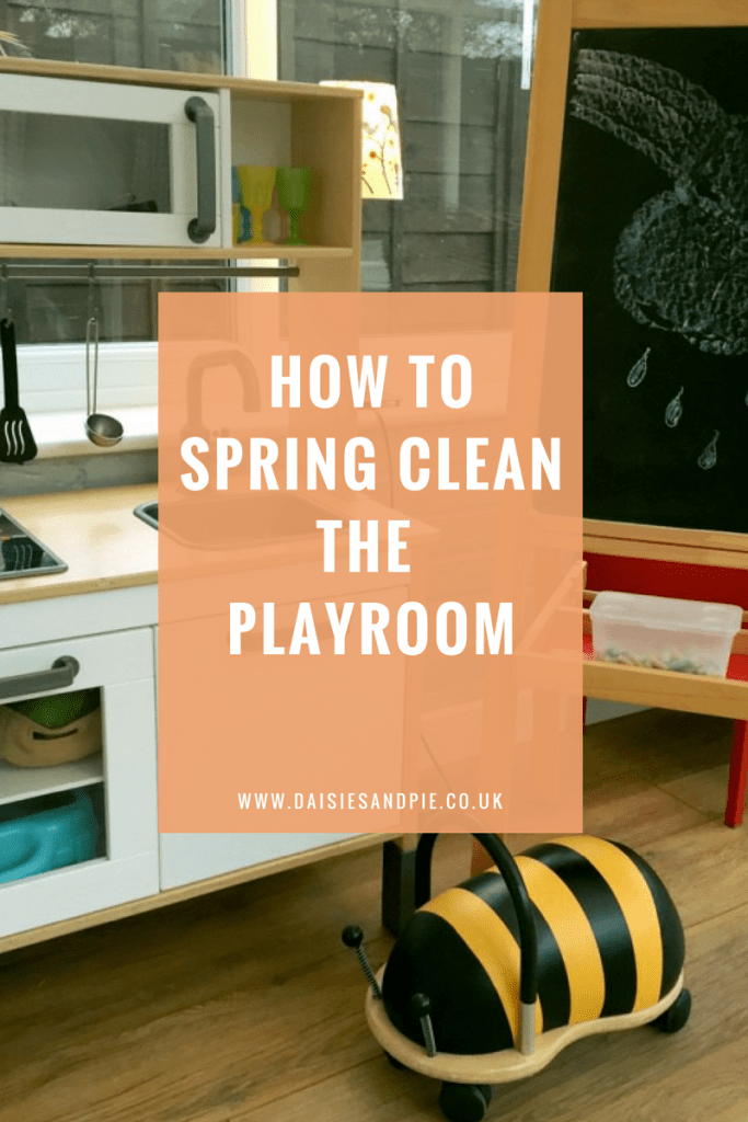 How to spring clean the playroom, kids room cleaning tips, spring cleaning pribtables
