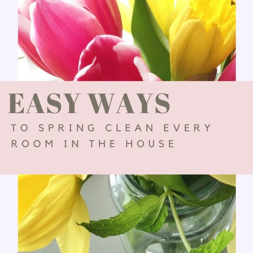 Spring clean every room in the house