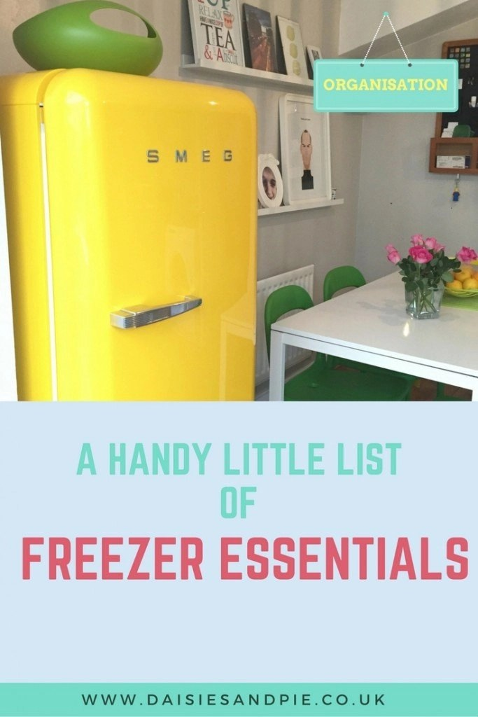 list of freezer essentials, what food to keep in stock in the freezer, homemaking tips, meal planning from daisies and pie