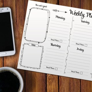 free printable weekly planner, weekly planner, free printable, home organisation, blog planner, september schedule, organisation aid