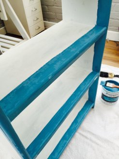renaissance chalk paint, how to do shabby chic paint, shabby chic paint technique, shabby chic furniture makeover, DIY from daisies and pie