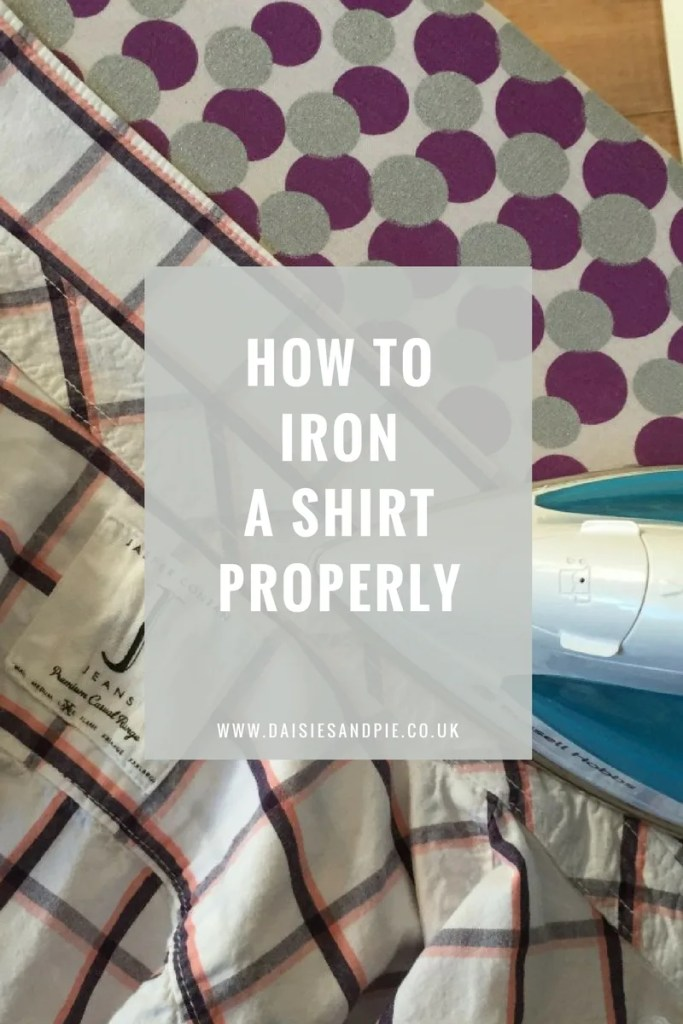How to iron a shirt properly, homemaking tips, laundry hacks