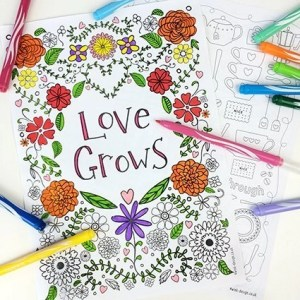 free adult colouring sheets, inspirational colouring sheets, printable colouring sheets for adults, lifestyle from daisies and pie