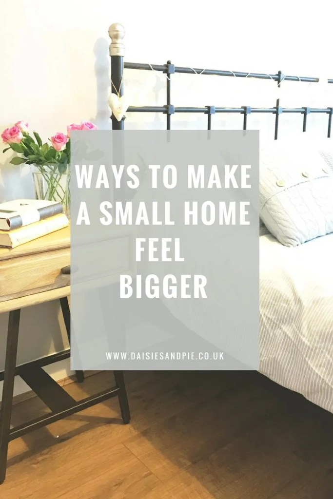 Ways to make a small house feel bigger
