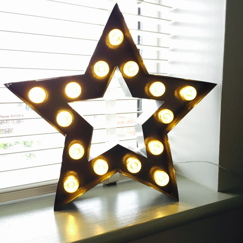 John Lewis LED star lamp grey, star lamp, star light, LED lamps, home style from daisies and pie