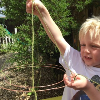 how to make wind catchers for the garden