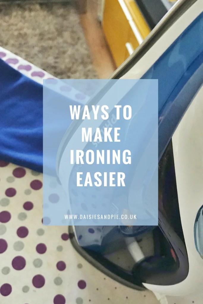 Ways to make ironing easier