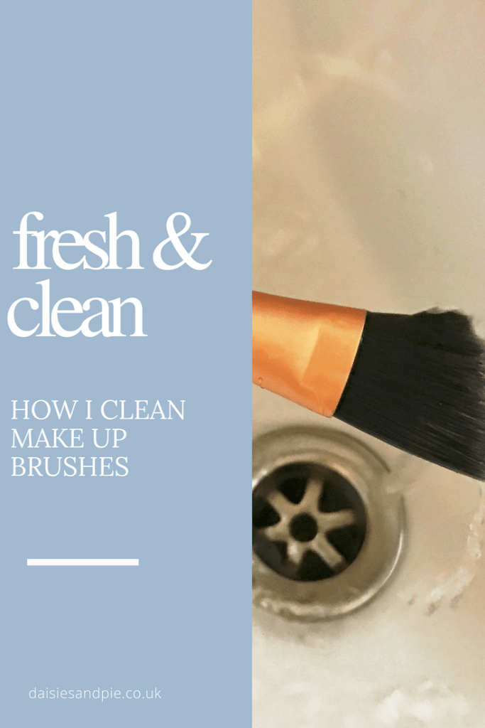 How to wash make up brushes, homemaking tips from Daisies and Pie