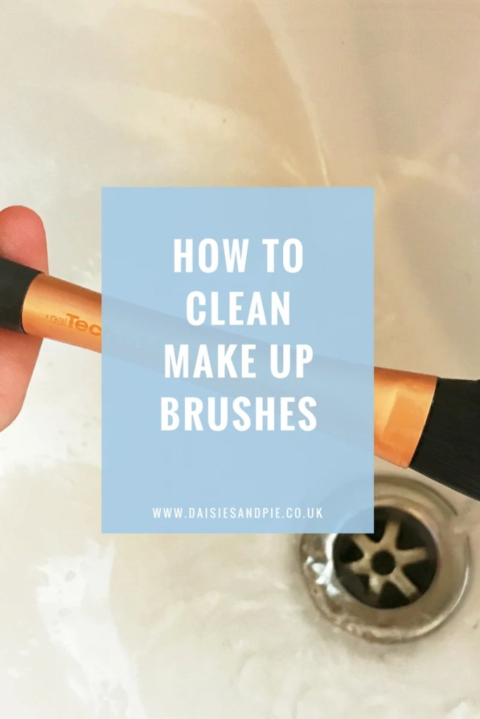 How to clean make up brushes, green cleaning tips, beauty tips