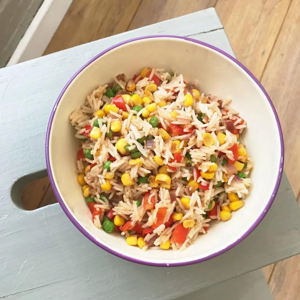 Quick veggie rice