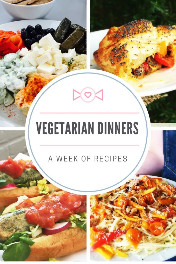A week of vegetarian dinners