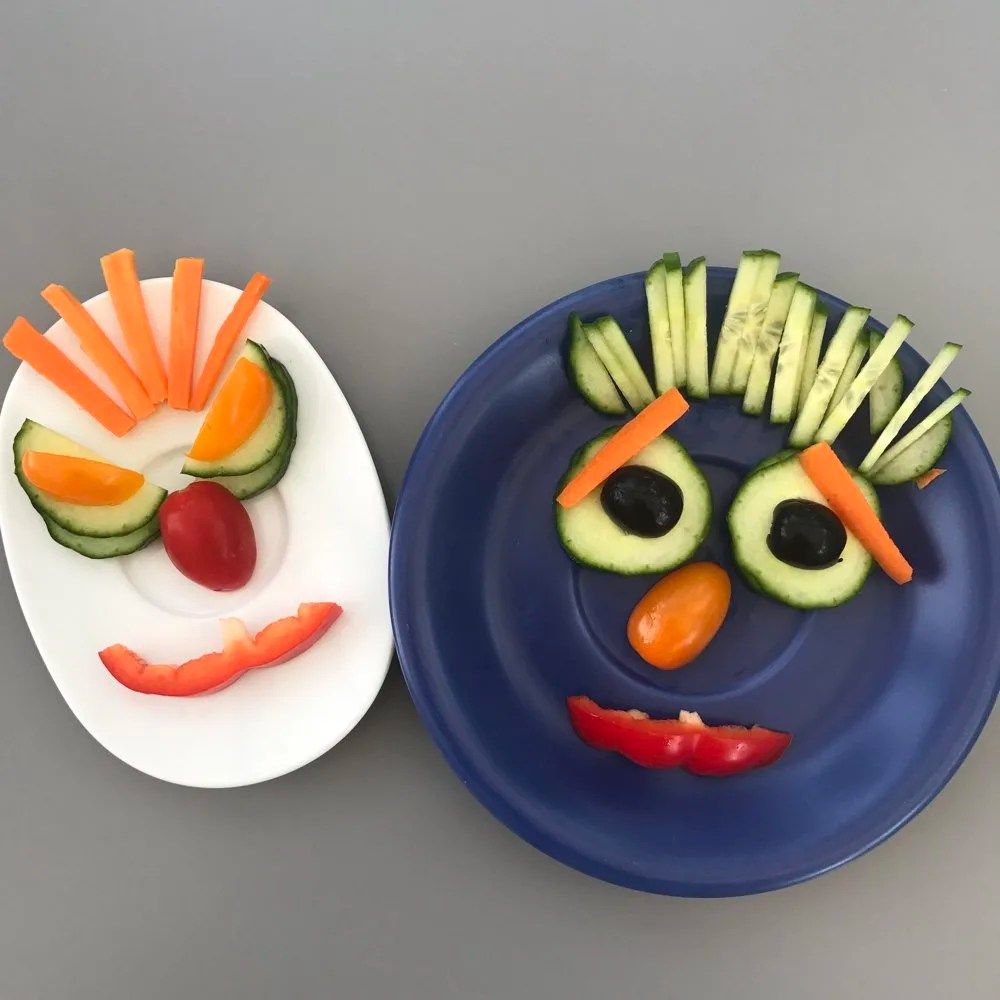 Monster side salads for kids, quick and easy side salads for kids, getting kids to eat more veggies, salad for picky eaters