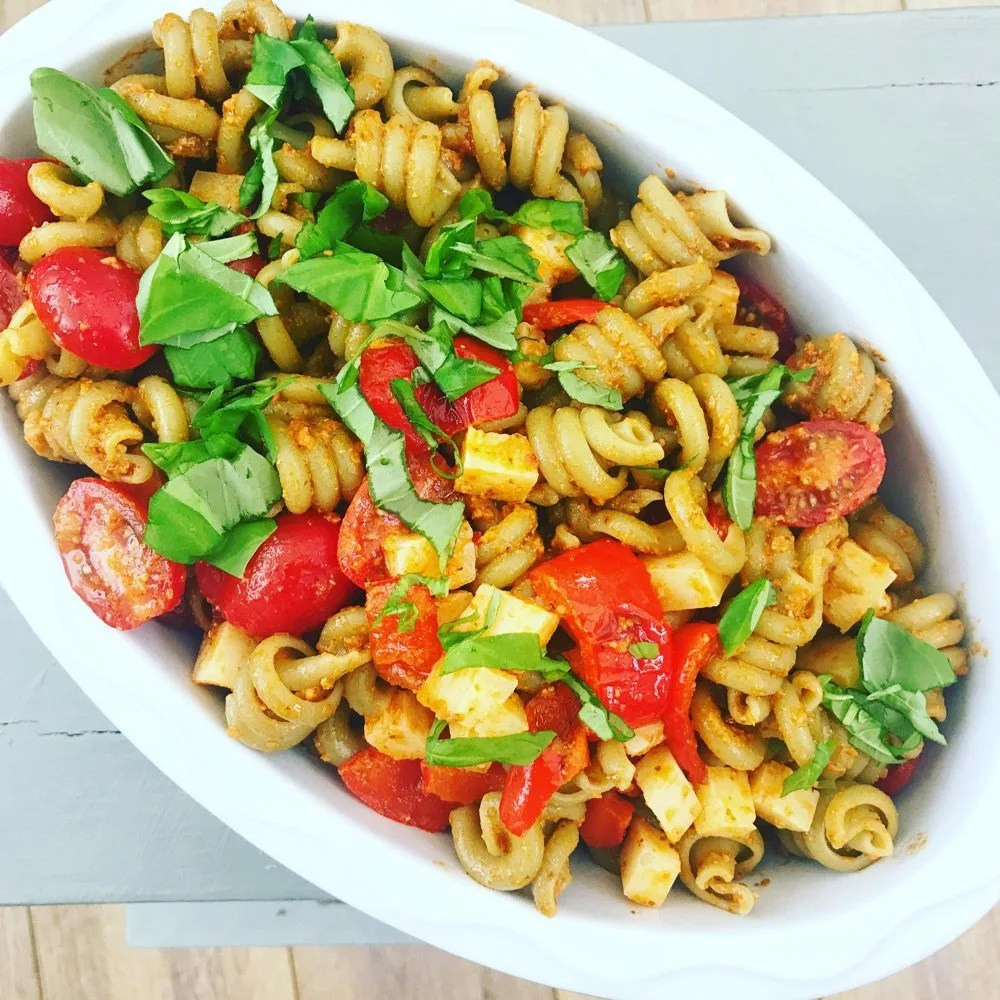 Spanish Pasta Salad, Delicious 20 minute meal, Healthy Summer Dinner Recipe