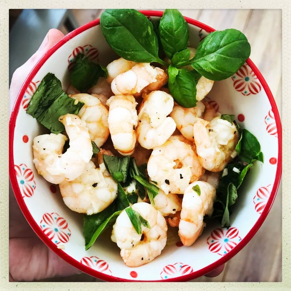 Pan Fried Prawns with Garlic and Fennel
