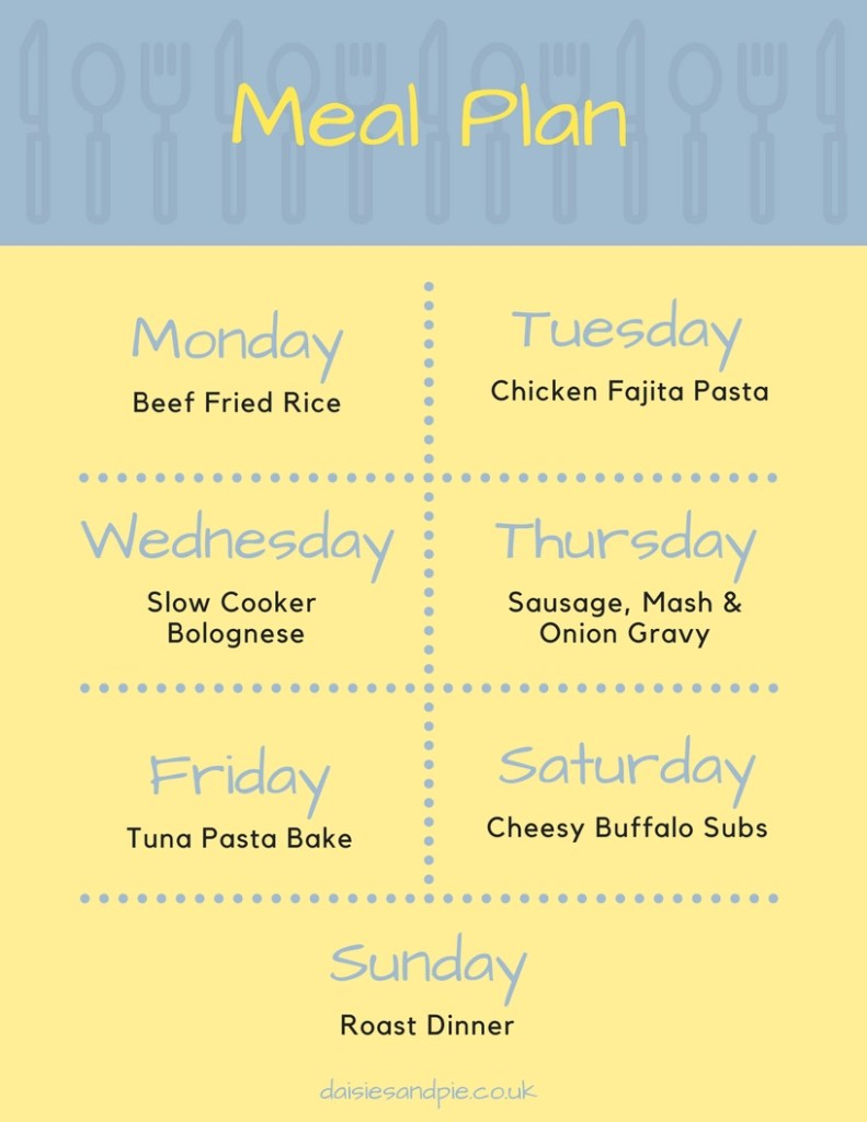 Family meal plan filled with easy to make family dinner recipes, homemaking tips