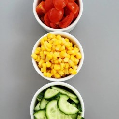 Traffic light salad - side salad for kids