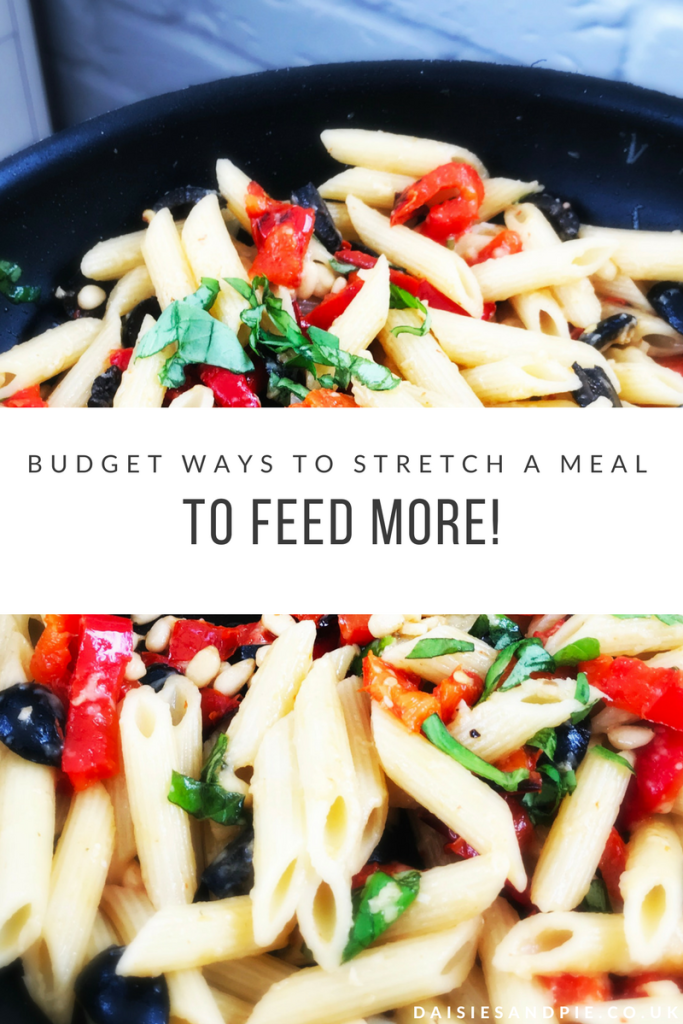 Budget ways to stretch a meal to feed more people, frugal cooking tips