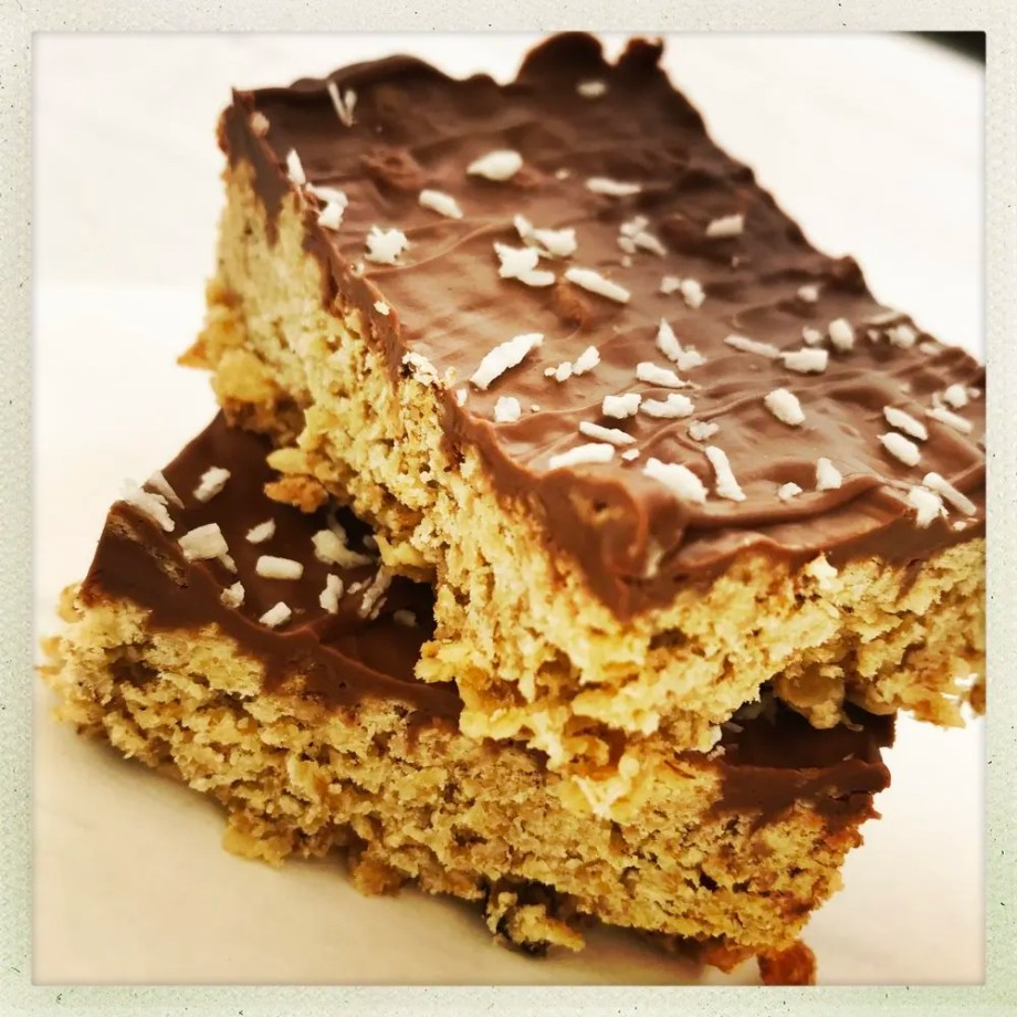 Easy Chocolate Coconut Flapjacks