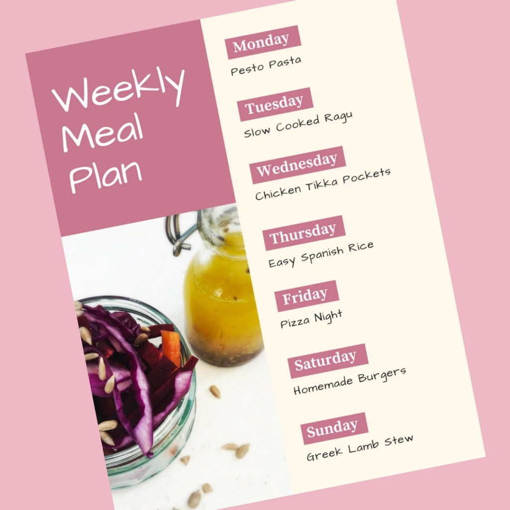 Family Meal Plan 18th June 2018