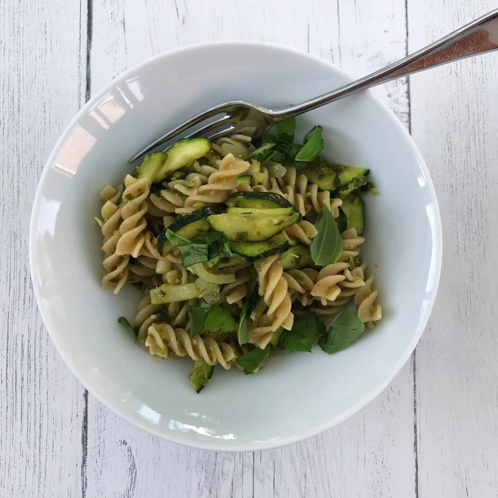 Pasta with Garlicky Greens