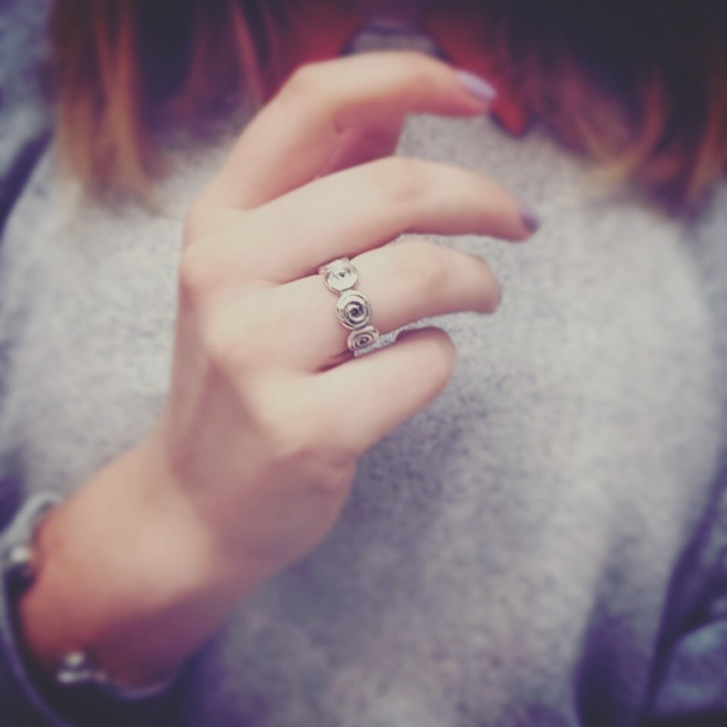 The one ring I own (thank you v. much Patrick Mavros for the lovely gift)