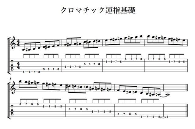 クロマチック運指基礎 楽譜